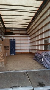 Removal lorry van with 1000 cubic feet capacity