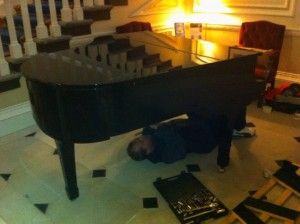 Disassembling the baby grand for removal