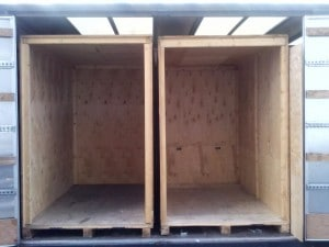 Two empty Pers removals containers