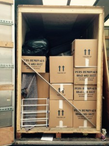 Pers removals fully loaded container